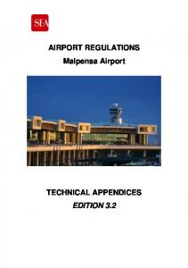 AIRPORT REGULATIONS Malpensa Airport