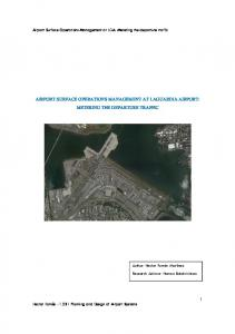 AIRPORT SURFACE OPERATIONS MANAGEMENT AT LAGUARDIA AIRPORT: METERING THE DEPARTURE TRAFFIC