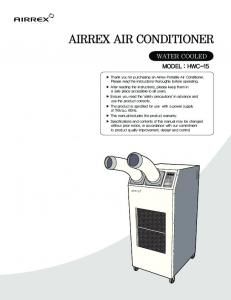AIRREX AIR CONDITIONER