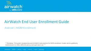 AirWatch End User Enrollment Guide
