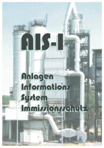 AIS-I. Anlagen Informations System Immissionsschutz