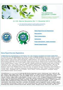 A.I.S.E. Charter Newsletter No. 11, December 2012