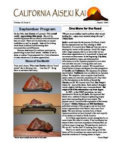 AISEKI. Volume 26, Issue 9 August 2008