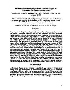 AISLAMIENTO DE MICROORGANISMOS A PARTIR DE SUELOS CONTAMINADOS CON HIDROCARBUROS