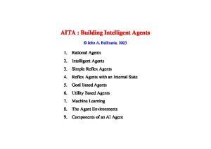 AITA : Building Intelligent Agents