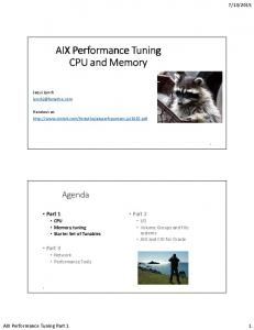 AIX Performance Tuning CPU and Memory