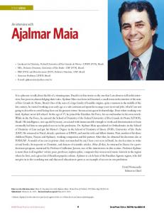 Ajalmar Maia. An interview with. Interview
