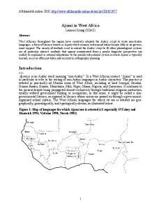 Ajami in West Africa