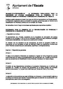 Ajuntament de l Escala vila marinera