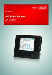 AK-System Manager AK-SM 800