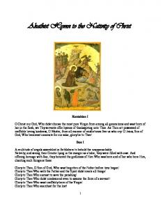 Akathist Hymn to the Nativity of Christ