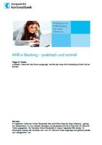 AKB e-banking praktisch und schnell