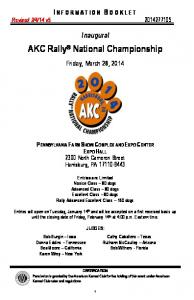 AKC Rally National Championship