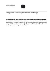 Aktenplan der Verwaltung des Deutschen Bundestages