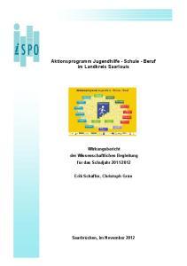 Aktionsprogramm Jugendhilfe - Schule - Beruf im Landkreis Saarlouis