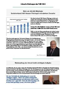 Aktuelle Meldungen des VdK 2014