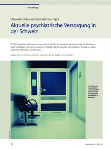 Aktuelle psychiatrische Versorgung in der Schweiz