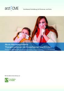 Akute Atemwegsinfekte: Therapieoptionen bei Erwachsenen und Kindern