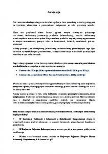 Akwizycja. Ustawa z dn. 30 maja 2014r. o prawach konsumenta (Dz.U. 2014r. poz. 827 tj.)
