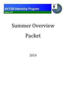 AKYSB Internship Program Summer 2014