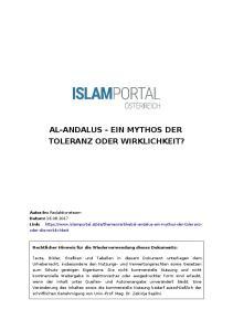 AL-ANDALUS - EIN MYTHOS DER TOLERANZ ODER WIRKLICHKEIT?