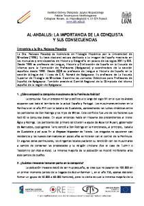 AL-ANDALUS: LA IMPORTANCIA DE LA CONQUISTA Y SUS CONSECUENCIAS