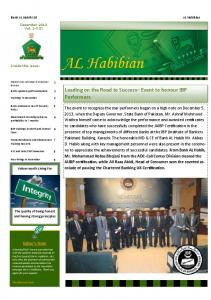 AL Habibian. Leading on the Road to Success Event to honour IBP Performers