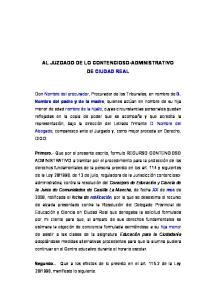 AL JUZGADO DE LO CONTENCIOSO-ADMINISTRATIVO DE CIUDAD REAL