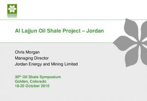 Al Lajjun Oil Shale Project Jordan
