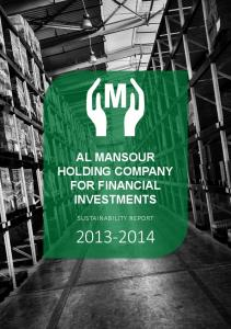 AL MANSOUR HOLDING COMPANY FOR FINANCIAL INVESTMENTS SUSTAINABILITY REPORT