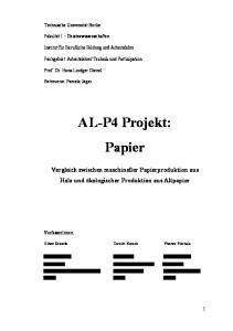 AL-P4 Projekt: Papier
