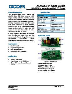 AL1676EV1 User Guide 100~265VAC Non-dimmable LED Driver