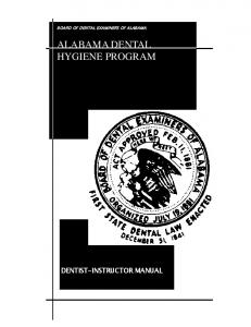 ALABAMA DENTAL HYGIENE PROGRAM