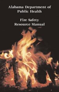 Alabama Department of Public Health. Fire Safety Resource Manual