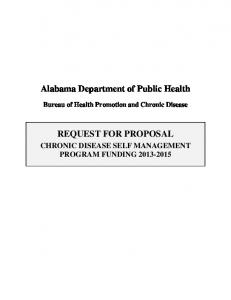 Alabama Department of Public Health REQUEST FOR PROPOSAL