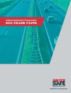 Alabama Department of Transportation 2013 CRASH FACTS