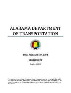 ALABAMA DEPARTMENT OF TRANSPORTATION