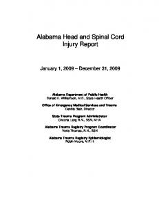 Alabama Head and Spinal Cord Injury Report