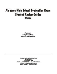 Alabama High School Graduation Exam Student Review Guide: Biology