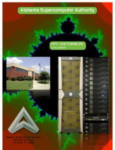 Alabama Supercomputer Authority. Alabama Supercomputer Authority