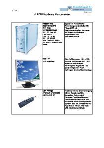 ALADIN Hardware Komponenten