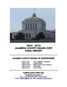 ALAMEDA COUNTY GRAND JURY FINAL REPORT