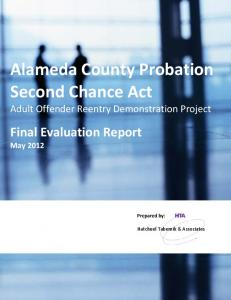 Alameda County Probation Second Chance Act