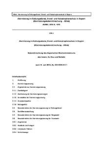 Alarmierung im Rettungsdienst, Brand- und Katastrophenschutz in Bayern (Alarmierungsbekanntmachung ABek)