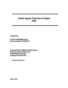 Alaska Aquatic Plant Survey Report 2005