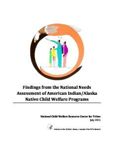 Alaska Native Child Welfare Programs