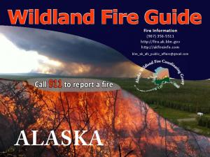 ALASKA. Wildland Fire Guide. Call 911 to report a fire. Fire Information (907)