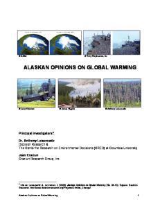 ALASKAN OPINIONS ON GLOBAL WARMING