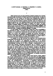 ALBERT CAMUS: LA HISTORIA, EL ABSURDO Y LA MORAL Anibal Romero (1994)