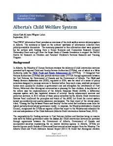 Alberta s Child Welfare System